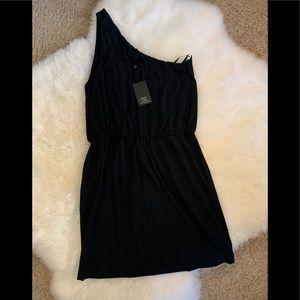 BNWT Tart BLACK one shoulder cotton dress sz L